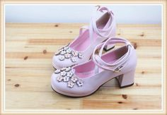 Pink Cross Ankle Straps 5cm Chunky Heel Flower Lolita Shoes | Know more >> http://www.wholesalelolita.com/pink-cross-ankle-straps-5cm-chunky-heel-flower-lolita-shoes-p-13687.html