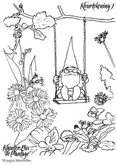 David The Gnome Coloring Pages Coloring Style Pages LineArt