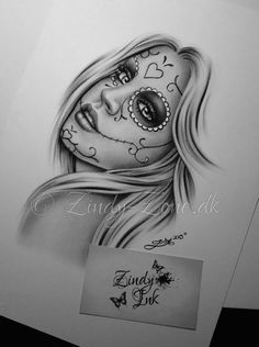 Day of the dead Girl Tattoo Design by Zindy S. D. Nielsen