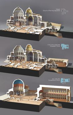 ArtStation - The Holy Sepulchre through the time Rocío Espín Piñar Picture For Sacred Architecture modern For Your TasteYou are looking for something, and it is going to tell you exactly what y Byzantine Architecture, Cathedral Architecture, Ancient Greek Architecture, Renaissance Architecture, Ancient Buildings, Sacred Architecture, Religious Architecture, Futuristic Architecture, Classical Architecture