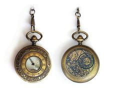 Gorgeous Doctor Who Pocket Watch by TimeMachineJewelry on Etsy