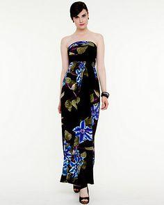 Floral Knit  Maxi Dress