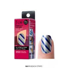Striped nails #beauty #manicure