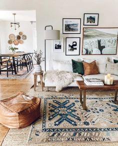 modern boho living room #art #homedecor #interiordesign