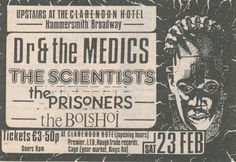 The Prisoners - 1985.02.23 London Clarendon Hotel (Ad)