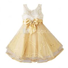 Girl's Fashion Shining Multi-layers Tulle Wedding Pageant Kids Clothes Princess Dresses - USD $19.99