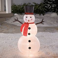 "48"" Foldable Fabric Lighted Snowman at Big Lots."