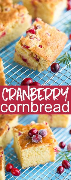 Tis the season to scarf this Cranberry Cornbread all winter long! Tis the season to scarf this Cranberry Cornbread all winter long! Pastry Recipes, Muffin Recipes, Baking Recipes, Dessert Recipes, Cranberry Recipes, Holiday Recipes, Delicious Desserts, Yummy Food, Breads