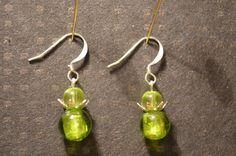 Glass bead earrings / Lasihelmi korvakorut #design #etsyretwt
