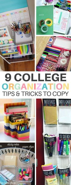 Back to School Organization: 8 Hacks Thatll Prepare You These 9 College Organization Hacks Will Help You Prepare And Get Through The Year Successfully! The post Back to School Organization: 8 Hacks Thatll Prepare You appeared first on School Diy. Organisation Hacks, Desk Organisation Student, School Office Organization, Organizing Hacks, Bedroom Organization Diy, Hacks Diy, Classroom Organization, Decluttering Ideas, Cleaning Hacks
