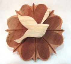 Ateliê Le Mimo: DIVERSOS  Mandalinha passarinho na flor - peça em madeira