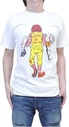 『ファストフード 仁義なき戦い?』 バーガーVSチキン おもしろデザイン パロディー Tシャツ コミカルTシャツ comical-022 : 服&ファッション小物通販   Amazon.co.jp