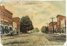 Main Street, Athens, Charleston, Ontario, Maine, Painting, Painting Art, Paintings, Painted Canvas