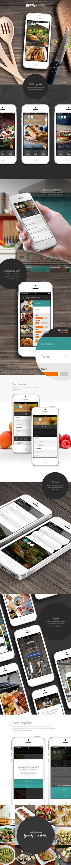 1 Mobile App Design Inspiration – Yummly (FREE – available on app store) – Bence Bohati Mobile App Design Inspiration – Yummly (FREE – available on app store) Yummly Mobile – this recipe app is AWESOME. I use it all the time. Web Design, Game Design, Design Sites, App Ui Design, User Interface Design, Flat Design, Graphic Design, Web Mobile, Mobile App Ui