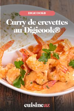 Réalisez un plat épicé comme un curry de crevettes, c'est facile au Digicook® !  #recette #cuisine #curry #crevette #epices #robotculinaire #cookexpert #Digicook Thai Red Curry, Comme, Robot, Ethnic Recipes, Cooking Recipes, Curry Shrimp, Fish, Dish, Robots