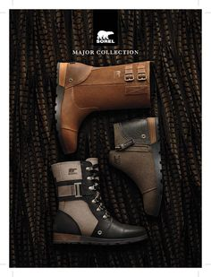 The bold, military-inspired Major Collection leads the style parade for boots this fall. Crafted of full-grain leather, rubber and canvas with metal accents, these boots will soon become your everyday favorite for Fall. Choose from a variety of styles, heights and colors at SOREL.