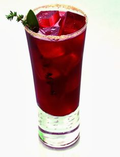 Pass the Turkey: wild turkey 101, apple cider, cranberry jelly, sage and thyme sprigs