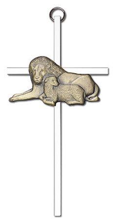 Lion & Lamb (6 inch) by Bliss | Catholic Shopping .com