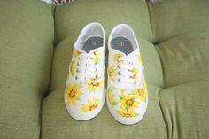 Sunflower canvas tennis shoes