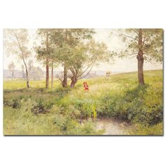 Landscape by Emile Isenbart Painting Print on Wrapped Canvas