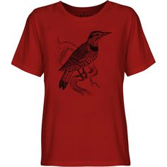 Mintage Lookout Bird Youth Fine Jersey T-Shirt