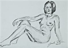 Edith - nude in pencil on paper