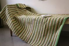 Rag Rug Handmade Green/Yellow and Red/White by rugsxboutique