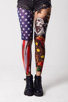 887e88101bc American Patriot - Tattoo Leggings