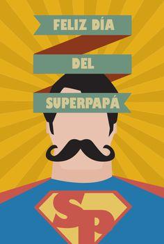 ¡Feliz día del padre! Muchas felicidades a todos los superpapás :) #diadelpadre #tequieropapa #felizdia #superpapa #flatdesign #Studioblurs Diseñado por Blurs Studio.