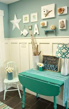 4 Incredible Cool Ideas: Living Room Remodel Ideas Renovation living room remodel on a budget link.Living Room Remodel With Fireplace Tvs living room remodel ideas arrange furniture.Living Room Remodel Before And After Projects. Beach Cottage Decor, Coastal Decor, Coastal Living, Coastal Entryway, Coastal Colors, Entryway Ideas, Cheap Home Decor, Diy Home Decor, Deco Pastel
