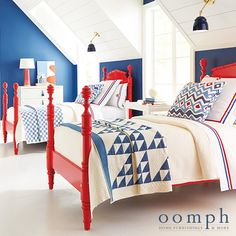 Elevate the Everyday furniture from oomph a little oomph goes a long way The Pick Me Up your home needs Custom Furniture - Not just for the design savvy Farmhouse Style Bedrooms, Farmhouse Bedroom Decor, Country Farmhouse Decor, Home Bedroom, Kids Bedroom, H & M Home, Best Interior Design, Boy Room, Decoration