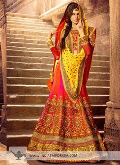 Astounding Multi Color Art Silk Lehenga