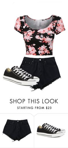 """♡♡"" by jordanwilton ❤ liked on Polyvore featuring Converse"