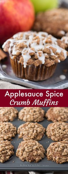 A family favorite fall apple muffin recipe - applesauce spice muffins with a bro. A family favorite fall apple muffin recipe – applesauce spice muffins with a bro… – A handful of …. Spice Muffin Recipe, Muffin Recipes, Apple Recipes, Fall Recipes, Baking Recipes, Recipe Spice, Simple Muffin Recipe, Applesauce Muffins, Apple Muffins