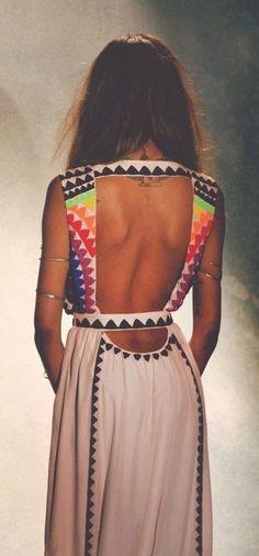 Mara Hoffman Backless Gown Looking Adorable