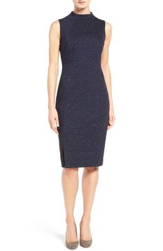 Classiques Entier® Funnel Neck Italian Ponte Dress available at #Nordstrom