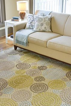 Tan & Light Green Basilica Rug - I wish I could have this, but not sure it's kid friendly...