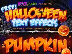 FREE Halloween Text Effects - Photoshop Styles by Koolgfx