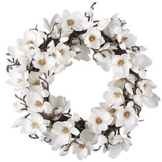 Magnolia Wreath. I NEED this.