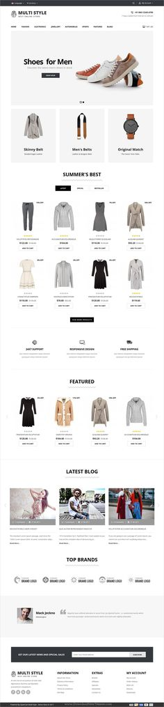 Multi Shop is clean, stylish and modern design 3in1 responsive #OpenCart theme for #fashion store stunning #eCommerce website download now..
