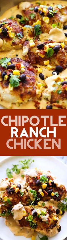 Chipotle Ranch Chicken... A delicious battered chicken recipe with a slight kick from Chipotle seasoning and cool flavor from the ranch! This flavor combo is unbelievable and that sauce is outstanding!