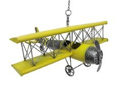 Yellow Vintage Metal Bi-Plane Hanging Decor Retro by Things2Die4, http://www.amazon.com/dp/B00BL1YS28/ref=cm_sw_r_pi_dp_pqqvrb1N78GG6