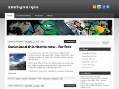 zeeSynergie is a two column wordpress theme in an elegant and sleek design that fits perfectly for a blog or small business website. It is featured with a nice theme option panel where you can upload your logo, pick one of nine color schemes or choose your own one via colorpicker. The theme comes also with a beautiful featured post slider (3 options – fade, dropdown, horizontal), a banner ads widgets, integrated social media buttons, custom footer and a dropdown navigation.