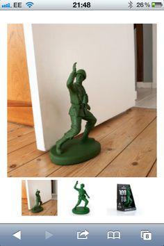 ARMY MAN DOOR STOP