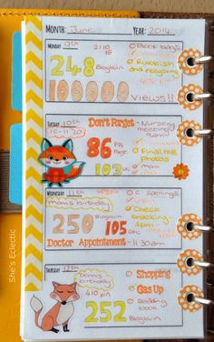 She's Eclectic: My week in my Filofax #24 - close up