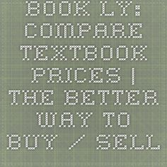 Book.ly: Compare textbook prices   The Better Way to Buy / Sell Textbooks for College