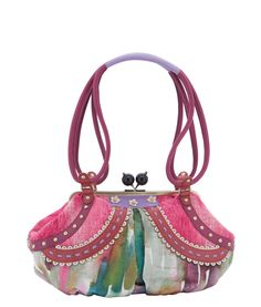 Spencer and Rutherford - Handbags - Frame Bag - Peyton - Folies Bergere - pretty and pink
