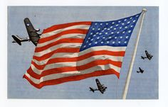 One of the most handsome and colorful leaflets that featured the American B-17 Flying Fortress was leaflet USB 6, dropped on occupied Belgium to give the people the hope of an eventual Allied victory and encourage them to fight on against the Germans. The front of the leaflet depicts four B-17 bombers flying above an American flag depicted in full color. The back is all text and has a long propaganda message in both French and Flemish.