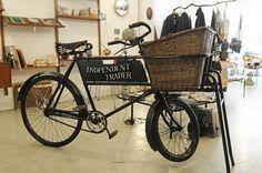 Antique English butcher's bike