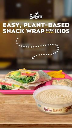 Fun fact: kids love veggies, they just might not know it yet. Tabitha Brown's easy Hummus & Veggie Wrap will have your kids veggie obsessed! Grab a wrap of your choice, spread Sabra Classic Hummus, and pack in all the goodies – were talking sliced avocados, fresh romaine lettuce, tomato, and pickles for a little crunch. Tabitha's Hummus & Veggie Wrap is packed with protein and raw veggies. What more could a parent ask for? Check out the full vegan recipe at sabra.com. All You Need Is, Healthy Snacks, Healthy Eating, Vegetarian Recipes, Cooking Recipes, Veggie Wraps, Lab, Diy Food, Quick Meals